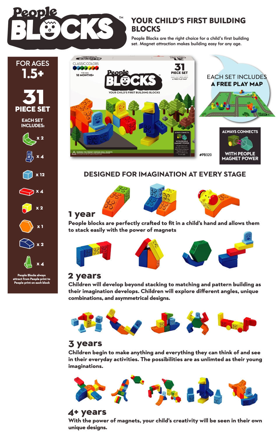 People Blocks Global 31 Piece Set Classic Colors Prevnext